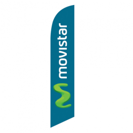 Movistar Feather Flag 12ft Poly Knit width=