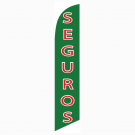 Seguros Feather Flag 12ft Poly Knit