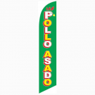 Pollo Asado Feather Flag 12ft Poly Knit