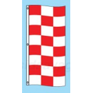 Red and White Checkered Drape Flag