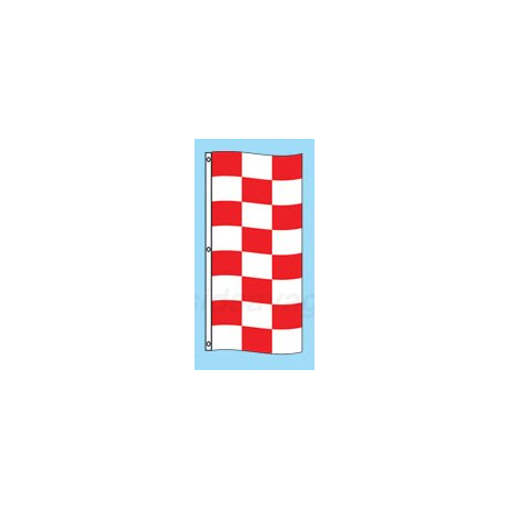 Red and White Checkered Drape Flag width=