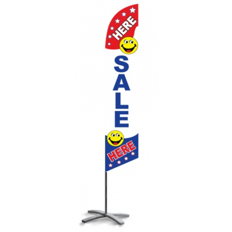 Sale Here Feather Flag Patriotic 12ft Poly Knit width=