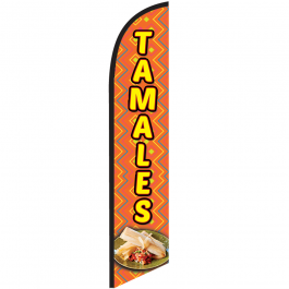 Tamales Feather Flag 12ft Poly Knit width=