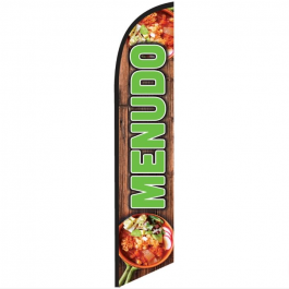 Menudo Feather Flag 12ft Poly Knit width=