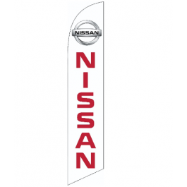 Nissan Feather Flag 12ft Poly Knit width=