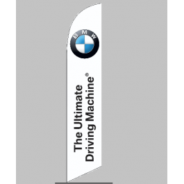 BMW The Ultimate Driving Machine Feather Flag 12ft Poly Knit width=