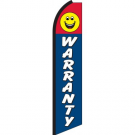 Warranty Smiley Feather Flag 12ft Poly Knit
