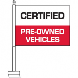 Certified Pre-owned Clip On Car Flag Blue. Qty 6. width=