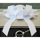 white magnetic car bow
