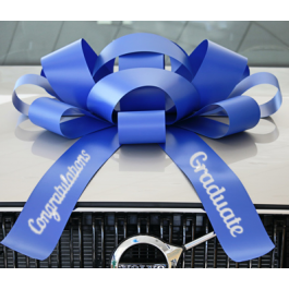 New! 30 Inch Giant Blue Congratulations Graduate Magentic Car Bow Jum-bow width=