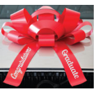 New! 30 Inch Giant Red Congratulations Graduate Magentic Car Bow Jum-bow
