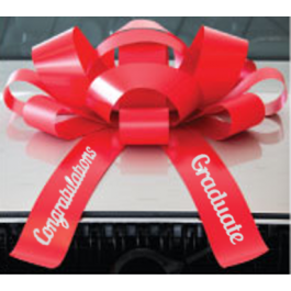 New! 30 Inch Giant Red Congratulations Graduate Magentic Car Bow Jum-bow width=