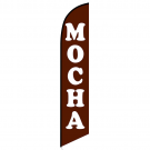 Mocha Feather Flag (coffee)