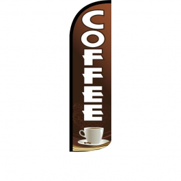 Coffee Feather Flag width=