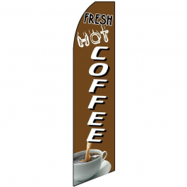 Hot Coffee Feather Flag width=