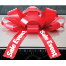 30 Inch Sale Event Magnetic Car Bow Red And White