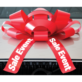 30 Inch Sale Event Magnetic Car Bow Red And White width=