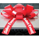 30 Inch Sales Event Magnetic Car Bow Red And White