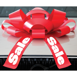 30 Inch Sale Magnetic Car Bow Red And White width=