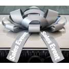 30 Inch Sales Event Magnetic Car Bow Silver And White