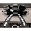 30 Inch Black Friday Magnetic Car Bow Black And White