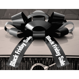 30 Inch Black Friday Magnetic Car Bow Black And White width=