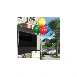 Permashine 4-balloon Bouquet Bracket Kit - multicolor -red,yellow,blue,green width=
