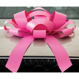 Giant Pink Magnetic Car Bow - Large 30 inch Size width=
