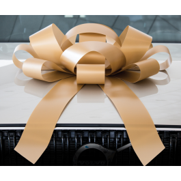 Giant Gold Magnetic Car Bow - Large 30 inch Size width=
