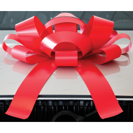 Giant Red Magnetic Car Bow - Large 30 inch Size width=