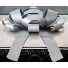 Giant Silver Magnetic Car Bow - Large 30 inch Size