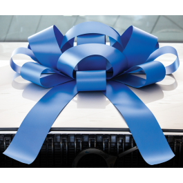 Giant Blue Magnetic Car Bow - Large 30 inch Size width=