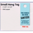 Sanitized Vehicle - Small Hang Tag