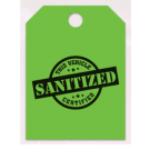 Sanitized Vehicle Mirror Hang Tags - Green