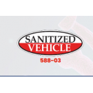 Sanitized Vehicle Oval Window Sticker - Red - Pkg Of 12