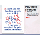 Sanitized Vehicle Poly Back Floor Mats - Box Of 500
