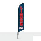 Liquor Drive Thru Feather Flag 12ft Poly Knit