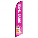 Dunkin Donuts Drive Thru Feather Flag 12ft Poly Knit