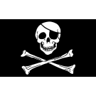 Pirate Skull and Bones Flag 3x5