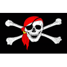 Red Bandana Pirate Flag 3x5