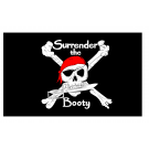 Surrender the Booty Pirate Flag 3x5