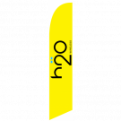 H2O Wireless Feather Flag Yellow 12ft Poly Knit