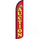 Auction Feather Flag 12ft Poly Knit