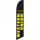 Western Union Feather Flag Black 12ft Poly Knit