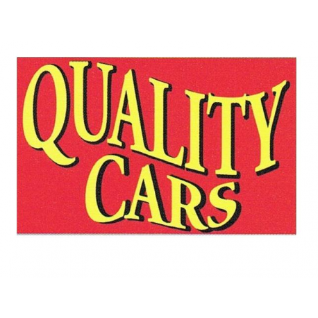 Quality Cars Flag 3x5 red width=