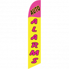 Auto Alarms Feather Flag Yellow & Pink 12ft Poly Knit
