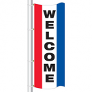 WELCOME Drape flag for Auto Dealers / Avenue Banner for Light Poles