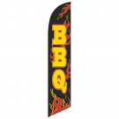 bbq Feather Flag Red 12ft Poly Knit
