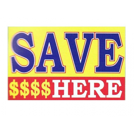 Save Here Flag 3x5 width=