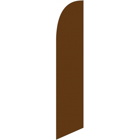 Solid Brown Feather Flag 12ft Poly Knit width=